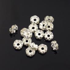 strasszos rondell 6 mm: áttetsző