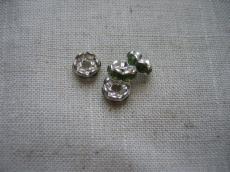 strasszos rondell 6 mm: olivin