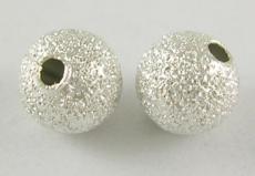 8 mm csillagporos ezüst gömb 10 db