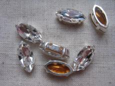 fűzhető foglalatos navette kristály