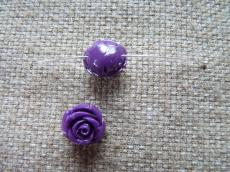 műgyanta rózsa lila 12 mm