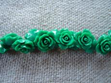 műgyanta rózsa zöld 15 mm