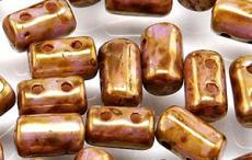 rulla gyöngy: arany lüszteres telt fehér 10 g