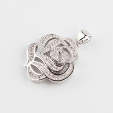 Cirkonia rózsa medál