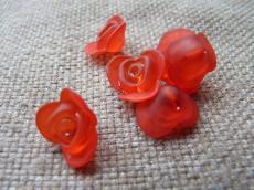 akril rózsa matt piros 10 db