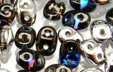 superduo gyöngy: crystal Heliotrope 10 g