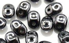 superduo gyöngy: hematit 10 g