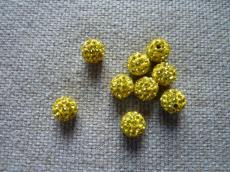 shamballa gyöngy citrin 12 mm