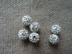 shamballa gyöngy fehér-kristály másodosztályú