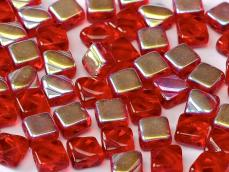 Silky gyöngy: áttetsző piros AB 20 db
