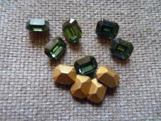 szürkészöld octagon kabochon
