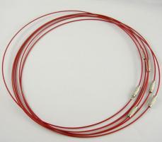 1,0-ás sodrony nyaklánc alap piros
