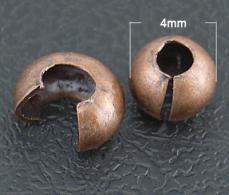 stopper rejtő antik vörösréz 20 db 4 mm