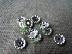 strasszos rondell 12 mm: peridot