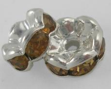strasszos rondell 8 mm: sötét topáz