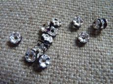 strasszos rondell 6 mm: sötét ametiszt