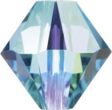 bicone 3 mm: aquamarine AB Xilion