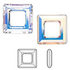 sw 4439 square ring crystal AB 14 mm