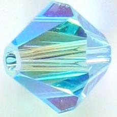 sw bicone 4 mm aquamarine AB2X Xilion