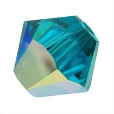 sw bicone 4 mm blue zircon AB Xilion