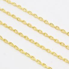 arany színű vésett szemű lánc 1 m