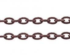antik vörösréz színű vésett szemű lánc 1 m