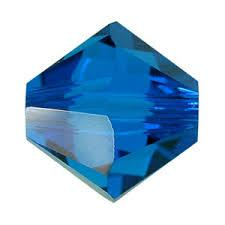sw bicone 6 mm: capri blue
