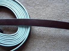 10 mm bőr karkötő alap barna-türkiz 1 cm
