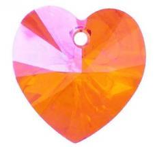 10 mm szív függő astral pink Xilion