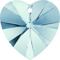 10 mm szív függõ aquamarine Xilion