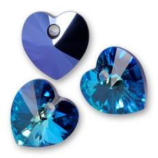 10 mm szív függő bermuda blue Xilion