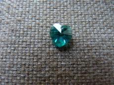 6228 10 mm szív függő blue zircone Xilion