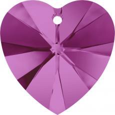 6228 10 mm szív függő fuchsia Xilion