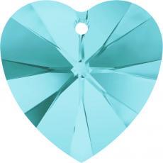 10 mm szív függő light turquoise Xilion