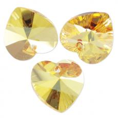 10 mm szív függő metallic sunshine Xilion