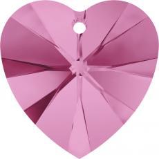 10 mm szív függõ rose Xilion