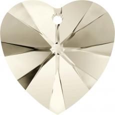 10 mm szív függő silver shade Xilion