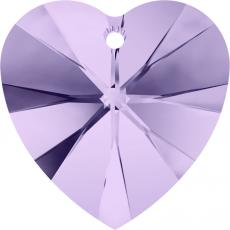 10 mm szív függő violet Xilion