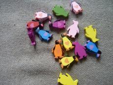 fagyöngy: színes pingvinek 5 db