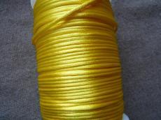 2 mm sárga selyemzsinór 1 m