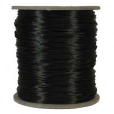 2 mm fekete selyemzsinór 1 m