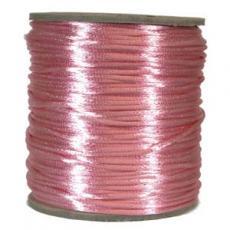 2 mm rózsaszín selyemzsinór 1 m