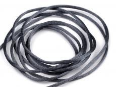 2 mm sötétszürke selyemzsinór 1 m