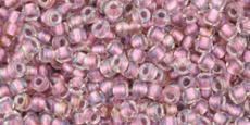 Toho 11/0 antik rózsaszín közepű irizáló kristály 10 g
