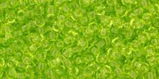 Toho 11/0 áttetsző lime 10 g