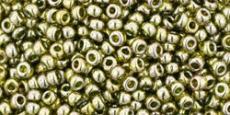 Toho 11/0 arany lüszteres zöld tea 10 g