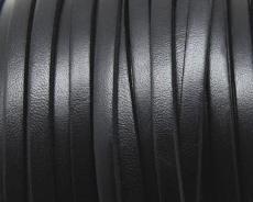 5 mm bőr karkötő alap fekete 20 cm