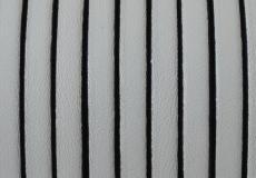 5 mm bőr karkötő alap fehér-fekete 20 cm