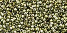 Toho 15/0 arany lüszteres zöld tea 5 g
