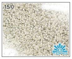 Toho 15/0 ezüst közepű kristály 5 g